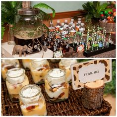 jungle party | safari-jungle-theme-party-dessert-table