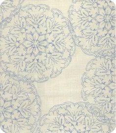 John+Robshaw+Light+Blue+and+Ivory+Curtain+Panel+by+StitchandBrush,+$295.00