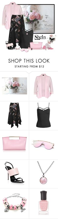 """""""Shein black strapping cami top"""" by lorrainekeenan ❤ liked on Polyvore featuring WALL, City Chic, Elizabeth and James, Sans Souci, Delpozo, Giuseppe Zanotti, Puck Wanderlust, West Coast Jewelry, Deborah Lippmann and MAC Cosmetics"""