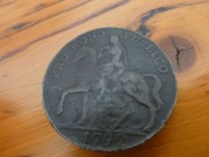 Antique Button Lady Godiva 1792 Coventry by MuskRoseVintage