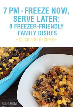 Do you often find that when you freeze a meal, it never tastes as good the second time around? Avoid the disappointment with these 8 delicious freezable dishes! Freeze Ahead Meals, Freezable Meals, Freezer Cooking, Crock Pot Cooking, Crockpot Recipes, Cooking Recipes, Freezer Recipes, Weight Watchers Freezer Meals, Good Foods To Eat