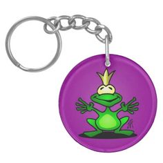 The Frog Prince Keychain. #Zazzle #Cardvibes #Tekenaartje #SOLD