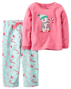 Kid Girl 2-Piece Fleece Christmas PJs | Carters.com