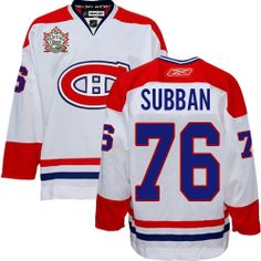 Buy 100% official Reebok P.K Subban Men s Authentic Heritage Classic White  Jersey NHL Montreal Canadiens 0f5d9d511