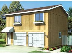 047g 0015 2 Car Garage Apartment Plan With Bedrooms Kits