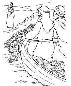 children's bible coloring pages peter and fishing - Yahoo Image Search Results