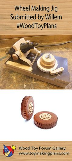 Wheel Making Jig - Submitted by Willem #WoodToyPlans