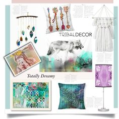 Totally Dreamy' by dianefantasy on Polyvore featuring interior, interiors, interior design, home, home decor, interior decorating, Americanflat, ferm LIVING, polyvoreeditorial and tribaldecor