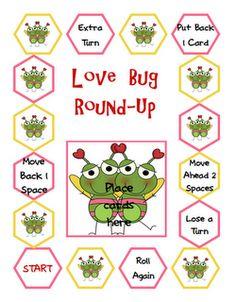 Free!!! How Cute Love Bug Round Up game!!!      Lindsay 수업시간에 했던 카드게임과 비슷한 종류이다. 수업의 마무리에 배운 내용을 확인하는 round up 게임으로 적합할 것 같다.