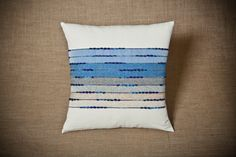 Akamas Seascape Handwoven cushion cover by JuliaAstreou on Etsy