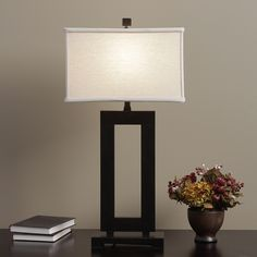 Mocha Metal Table Lamp with Cream Shade | Overstock.com Shopping - The Best Deals on Table Lamps $74.99