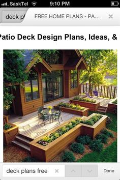 raised beds outlining the deck--great idea for a garden w/ in the beds