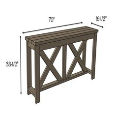 X Brace Console Table This Wonderful Picture Collections About Narrow Depth