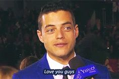 Animated gif about gif in Rami Malek by Δ on We Heart It Rami Malek, Rami Said Malek, Sebastian Stan, Best Friends Brother, Night At The Museum, Mr Robot, American Gods, Cute Eyes, Queen Band