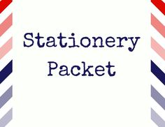 Stationery Packet