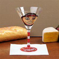 Ohio State Buckeyes Hand-Painted 8.5oz. Martini Glass! #valentines #fanatics
