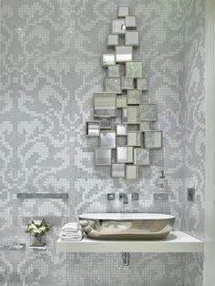 55 Идей Дизайна ванной комнаты 4 кв. м: Лучшие идеи современного интерьера http://happymodern.ru/dizajn-vannoj-komnaty-4-kv-m/ Раковина в углу - один из приемов увеличения пространства в небольшой ванной
