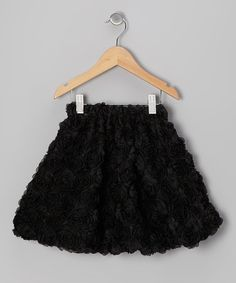 Take a look at this Black Rosette Skirt - Toddler & Girls by Share n' Smiles on #zulily today!