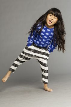 love mixing stripes with dots.  #designer #kids #fashion