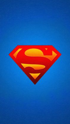 LOGO SUPERMAN BLUE RED HERO ILLUSTRATION ART WALLPAPER HD IPHONE