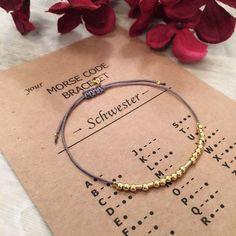 Silver bracelets – Morse code bracelet 925 silver (GOLD PLATED) – a designer … - Armband Ideen Bracelet Crafts, Beaded Bracelets, Sterling Silver Bracelets, Silver Jewelry, Armband Diy, Armband Tattoo, Mens Shoulder Tattoo, Diy Accessoires, Morse Code Bracelet