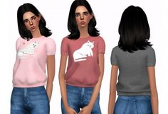 Clothing: Lazy Oaf T-Shirt from Dani-Paradise • Sims 4 Downloads