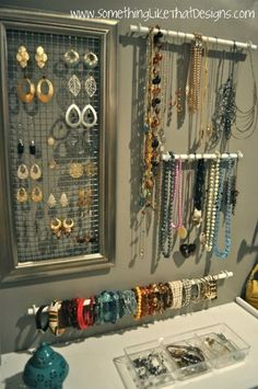I would love this DIY setup for my jewelry...when i have a bigger closet.