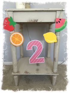 Two-tti Fruity 2nd Birthday High Chair Banner