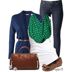 A fashion look from November 2013 featuring H&M cardigans, Soaked in Luxury tops y Hudson Jeans jeans. Browse and shop related looks.