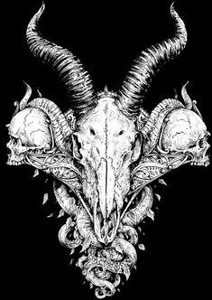 My demons are all grown up now. Dark Artwork, Metal Artwork, Arte Horror, Horror Art, Angel Of Death Tattoo, Arte Dope, Skull Sleeve Tattoos, Dark Art Illustrations, Heavy Metal Art