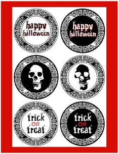 free gothic halloween party printables #halloween #freeprintables #scary