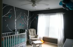 Tour Our Gray and Turquoise Nursery