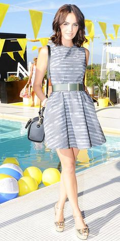 Look of the Day - June 24, 2014 - Camilla Belle in Kate Spade Saturday from #InStyle