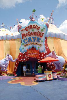 Circus McGurkus Cafe   Island of Adventure, via Flickr.