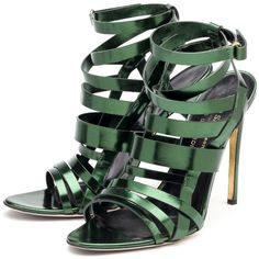Rupert Sanderson High Heel Sandals (26.190 RUB) ❤ liked on Polyvore featuring shoes, sandals, heels, sapatos, scarpe, high heel shoes, high heel sandals, rupert sanderson shoes, green high heel shoes and rupert sanderson