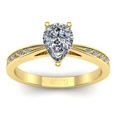 Inel logodna L58GSA cu safir alb si diamante
