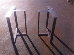 Industrial Steel T-Shaped Style Metal by CustomTableLegs on Etsy