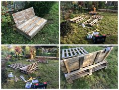 I have received a dozen pallets and converted three of them into a garden sofa/seat. Hope you like it.…