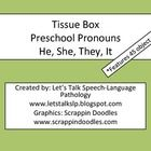 This is a pronoun activity for younger students that target he, she, they, and it pronouns.  The download includes 45 object pictures, 4 backpacks ...