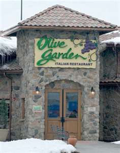 I think I would pick Olive Garden as my favorite Chain Restaurant