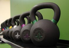 Strencor kettlebells and storage Commercial Fitness Equipment, No Equipment Workout, Kettlebells For Sale, Iron Gym, Farmers Walk, Squat Stands, Dumbbell Rack, Resistance Tube, Certified Pre Owned