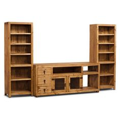 santa fe rusticos 3piece solid pine centre with 63u201d tv opening solid pinewall