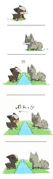 poor poochyana and houndour