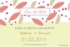 Save the Date Sophia e Daniel - By Fiori di Giardino