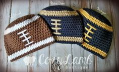 Crochet Football Team Beanie/Photo Prop  baby  by CozyLambBoutique