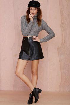 Nasty Gal Sophie Metallic Turtleneck Sweater   Shop Clothes at Nasty Gal