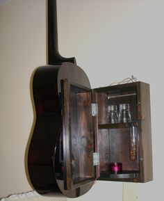 Gitarre als Wandschrank Bastelanleitung zum selber basteln