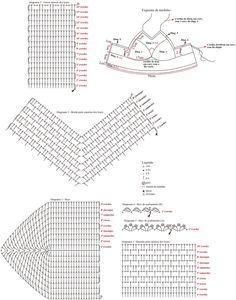 ISSUU - Knitting and crochet by vlinderieke Crochet Lingerie, Crochet Bra, Crochet Clutch, Crochet Bikini Top, Crochet Diagram, Crochet Blouse, Crochet Clothes, Crochet Tank Tops, Crochet Dishcloths