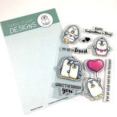 Valentine Penguins 4x6 Clear Stamp Set