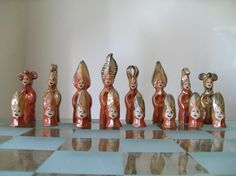 Goddess Chess Set by HLsculpture on Etsy, $265.00